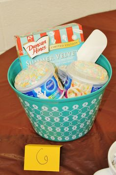 cake cooking kit prize for a bridal shower or any party game prizes for under