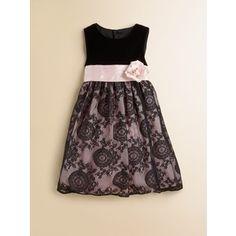 Luli and Me Toddler's & Little Girl's Velvet Lace Dress - Luli & Me
