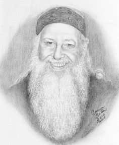 """Jim"" Graphite portrait of a dear friend at our church done from a photograph. Sometimes a face just captures your attention...I had to draw this beard. :-) by connie baten"