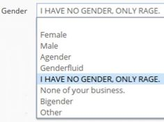 Im not actually nonbinary but this is hilarious