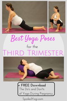Best Yoga Poses for the Third Trimester - prenatal workout Yoga During Pregnancy, Trimesters Of Pregnancy, Pregnancy Tips, Pregnancy Workout, Pregnancy Acne, Pregnancy Diary, Women Pregnancy, Pregnancy Calendar, Third Pregnancy