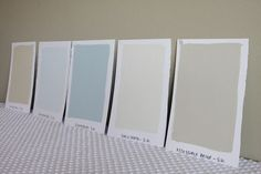 Sherwin-Williams Paint Colors: Softer Tan, Mountain Air, Sleepy Blue, Shoji White, Accessible Beige