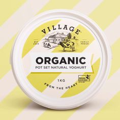 When Village Cheese and Yoghurt's founder immigrated to Australia from Cyprus, he brought with him a rich tradition – the sharing of beautiful food wi Yogurt Packaging, Dairy Packaging, Cheese Packaging, Organic Packaging, Food Packaging Design, Packaging Design Inspiration, Branding Design, Best Sparkling Wine, Cheese Design