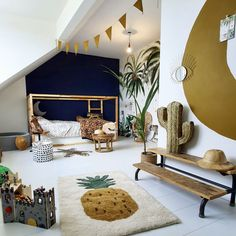 Die schönsten Instagram Kinderzimmer weltweit - #die #Instagram #Kinderzimmer #schönsten #weltweit #zimmer Room Interior, Interior Design Living Room, Safari Kids Rooms, Safari Nursery, Safari Bedroom, Jungle Room, Jungle Safari, Jungle Theme, Safari Theme