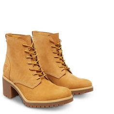 Womens Boots Timberland Averly Lace Chukka Wheat Nubuck