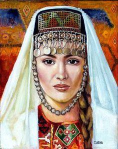 Darya Gürcan - Sanatçı Profili ve Eserleri | Gallerymak Portrait, Pretty, Painting, Psp, Armenia, Women, Drawings, Dibujo, Floral Illustrations