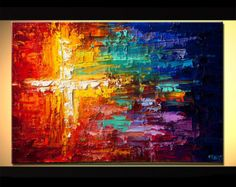 Original Contemporary modern Abstract Painting On Canvas