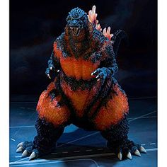 If you don't have room in your home for this massive, lava-sore-covered Godzilla - don't worry! He'll make room himself. Measuring nearly 19 inches tall and 34 inches long and weighing nearly 8 pounds, he's one big kaiju for the collector's shelf.