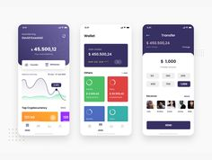 Ios App Design, User Interface Design, Top Cryptocurrency, Ui Kit, Creative Words, Psd Templates, Make It Yourself, Wallet, App App