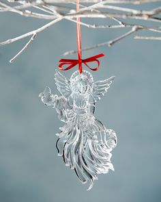 2014 Annual Angel Christmas Ornament by Waterford at Horchow. #TreetopiaHolidays