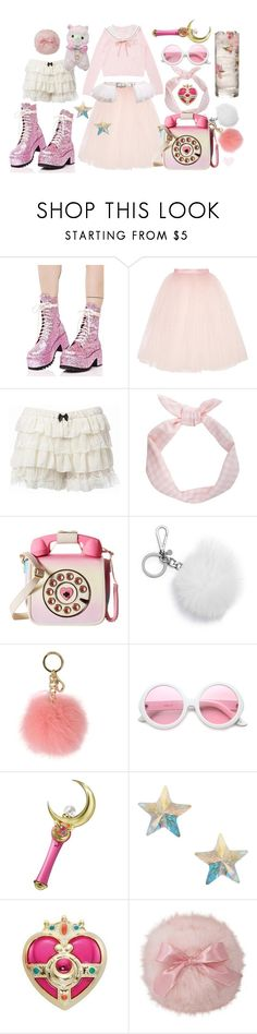 """""""Sparkly Pink Dream Girl from the Internet"""" by porcelainette ❤ liked on Polyvore featuring Current Mood, Ballet Beautiful, LULUS, Betsey Johnson, MICHAEL Michael Kors, ZeroUV, Bandai, Orelia, StreetStyle and pastel"""