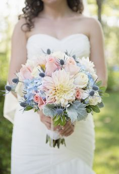 Pastel-toned bouquet // Sarah Murray Photography