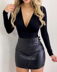Swans Style is the top online fashion store for women. Shop sexy club dresses, jeans, shoes, bodysuits, skirts and more. Cute Casual Outfits, Sexy Outfits, Chic Outfits, Fall Outfits, Fashion Outfits, Womens Fashion, Classy Outfits For Going Out, Night Out Outfit, Night Outfits