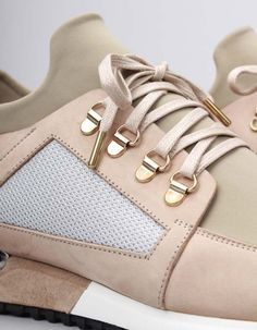 Mallet Footwears Hiker trainers have neoprene and mesh leather panelled uppers and metal D rings to the back of the shoes City Slickers, Lace Up Trainers, Urban Fashion, Footwear, Beige, Metal, Sneakers, Clothing, Leather