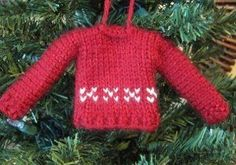 Tiny Sweater Ornament  3  Yarn Weight: (4) Medium Weight/Worsted Weight