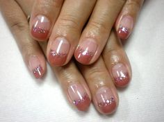 Sparkle French manicure for short nails :: one1lady.com :: #nail #nails #nailart #manicure