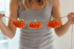 Yarn Pumpkins DIY Project!