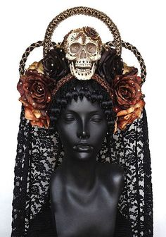 Dress for Dia de los Muertos! Order a Miss G headdress!