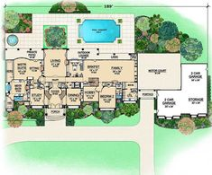 Presidential Estate, first floor plan Buckingham House, Mansion Plans, Cape Cod Style House, Elegant Dining Room, Luxury House Plans, Spiral Staircase, Story House, Stunning View, House Floor Plans