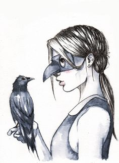 Prints and Original Art. Heart Art, Types Of Art, Crow, Art Reference, Art Projects, Illustration Art, Illustrations, Original Art, Drawings