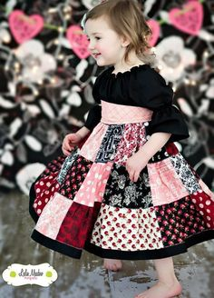 The Valentine dress by Corinna Couture. Toddler Dress, Baby Dress, Toddler Girl, Sewing For Kids, Baby Sewing, Little Girl Dresses, Girls Dresses, Girl Dress Patterns, Cute Outfits For Kids