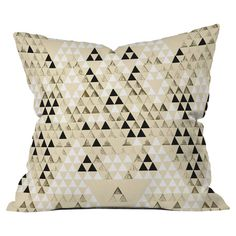 Throw pillow with a triangles motif by Pattern State for DENY Designs. Made in the USA.   Product: PillowConstructio...