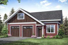 Craftsman Plan: 838 Square Feet, 1 Bathroom - 035-00857 The Plan, How To Plan, 2 Car Garage Plans, Garage Workshop Plans, Garage Ideas, Cottage Style House Plans, Cottage House Plans, Cottage Design, House Design