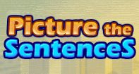 Picture the Sentences is a wonderful game for young kids to test and build their sentence-making skills. In this game, students are given a set of pictures and sentences describing these pictures. They have to correctly match each picture with its describing sentence. This game helps students to produce, expand, and complete simple, and compound declarative, interrogative, imperative, and exclamatory sentences in response to prompts.