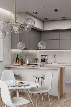 39 Small Kitchen Designs ideas with Cute and Stylish Designs image no 29 .Different and interesting Small Kitchen Pictures, Kitchen Small, 10x10 Kitchen, Kitchen Post, Stylish Kitchen, Kitchen Colors, Kitchen Decor, Kitchen Ideas, White Lounge