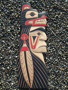 Wood Carving Patterns, Wood Carving Art, Wood Art, Native American Artwork, American Indian Art, Totem Pole Art, Whittling Wood, Intarsia Wood, Native Design