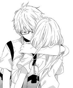 manga, anime, and hibi chouchou image Couple Manga, Anime Love Couple, Cute Anime Couples, Senpai Notice Me, Manga Anime, Anime Kiss, Poses Anime, Hibi Chouchou, Desu Desu