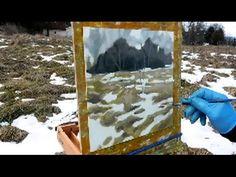 Plein Air Painting Demo - Dark Trees and Snow