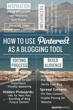 How To Use Pinterest as A Blogging Tool Pinned to ensure your success by Online Marketing And Business Strategist Merja Lindroos http://shop.multiplyprosperity.com/marketing/