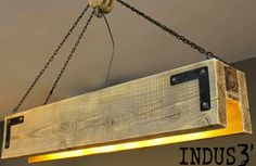 luminaire en palette de bois