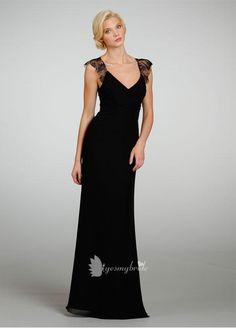 style, not color  long bridesmaids dresses | ... Empire A-line Long Bridesmaid Dress with Cross Over Draped V-neckline