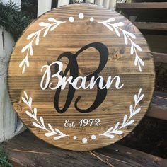 Family Established Wood Signs Personalized Family Wood Sign | Etsy