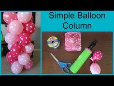 Easy Dollar Store Balloon Columns Tutorial! - YouTube
