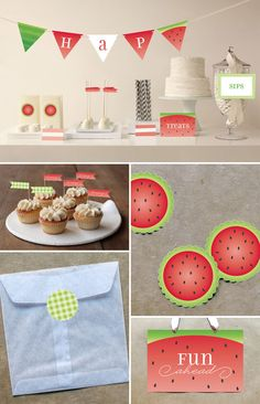 Watermelon Party Goods | Jill Means for Minted via Invitation Crush