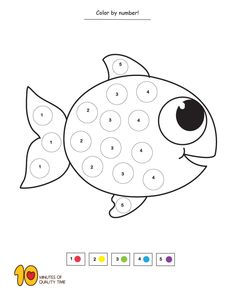 Color fish by number Summer Coloring Sheets, Christmas Coloring Sheets, Alphabet Coloring Pages, Flower Coloring Pages, Alphabet Letter Crafts, Letter Tracing, Fun Activities For Kids, Thanksgiving Activities, Counting For Kids