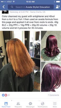 Aveda formula by another stylist … - Modern Plum Hair, Purple Hair, Hair Color And Cut, Cool Hair Color, Couleur Aveda, Aveda Hair Color, Hair Color Formulas, Short Hair With Layers, Doll Hair