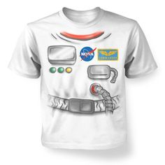 Astronaut Costume Long Sleeve Baby T-shirt Astronaut Suit, Astronaut Costume, T Shirt Costumes, Cool Costumes, Witch Outfit, Halloween Patterns, Kids Boxing, Boys T Shirts, Fancy Dress