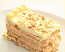 Sans Rival: A sinfully buttery layered dessert with nuts.