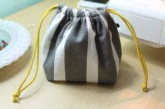 First Sewing Month Project: Easy DIY Drawstring Bag - A Dose of the Delightful