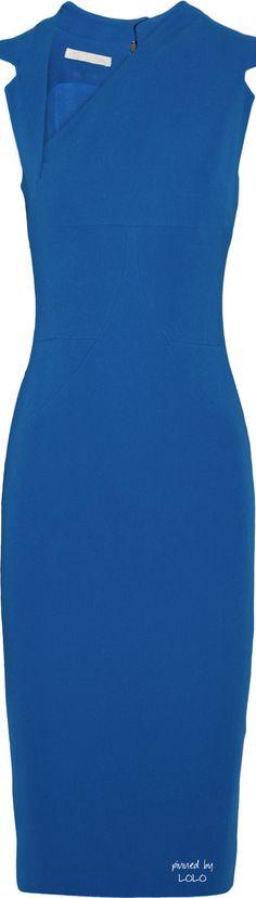 Antonio Berardi Blue Asymmetric Stretchcrepe Dress