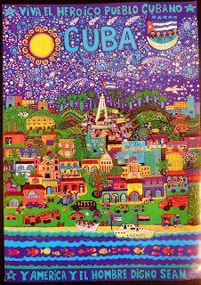 'Cuba', Beatriz Aurora, 46 x 34 cm / EZLN, pintura, arte zapatista, zapatista movement