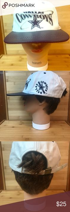 ♻️Dallas Cowboys Leather SnapBack Hat NFL Dallas Cowboys Premium Leather SnapBack Hat  Great Condition Accessories Hats