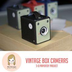 Vintage Box camera papertoy project!
