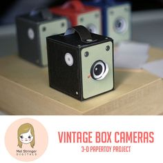 Vintage Box camera papertoy project!