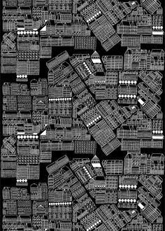 アイテム ホーム コレクション FABRICS Others Marimekko (マリメッコ) 日本公式サイト  Pattern: Asemakaava (アセマカーヴァ)/市街図/2014
