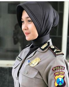 An Indonesian National Police officer